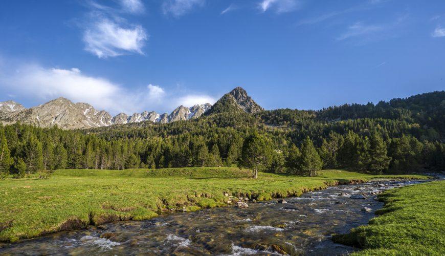 Paisaje de Madriu-Perafita-Claror en los Pirineos